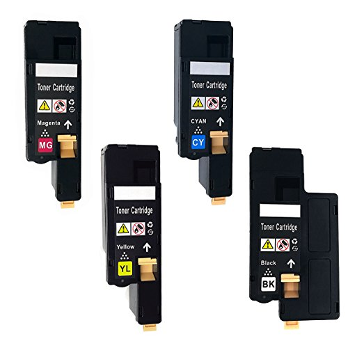 Dell 1250C 1250 Toner Cartridges Compatible for 1350cnw 1355cn 1355w C1760nw C1765nf C1765nfw Replacement High Yield (4pk Set)
