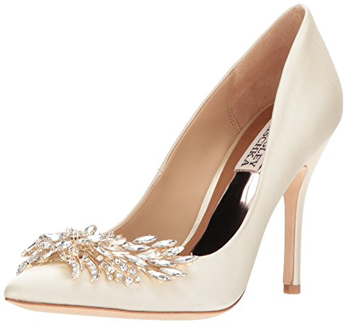 Badgley Mischka Women's Marcela Pump, Ivory, 10 M US by Badgley Mischka