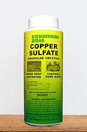 Root 98 Warehouse Southern Ag Copper Sulfate Granular Crystals (Control algae, pond, lake, sewer root growth), 1 (Algae Control Lakes)