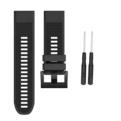 Jewh Width Strap for Garmin Fenix - 5X/3/3HR Band Sport Silicone Watchband