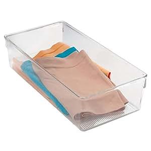 Interdesign 110792 Plastic Linus Dresser 6, Clear
