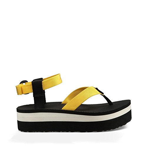 Freesia Canvas (Teva Women's Flatform Platform Ankle Sandal, Freesia, 7 M)
