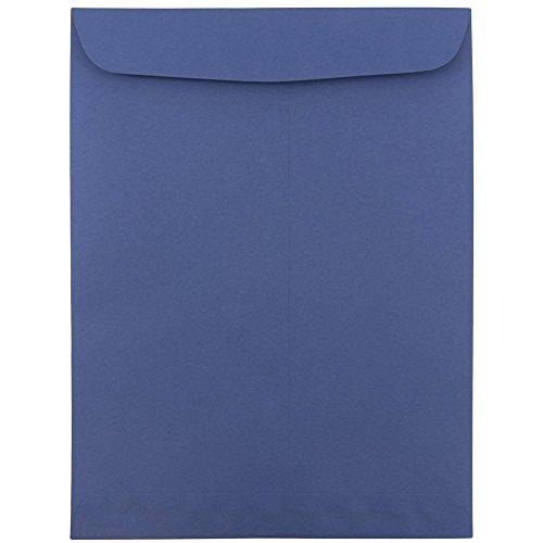"JAM Paper 9"" x 12"" Open End Catalog Envelopes with Gum Closure - Presidential Blue - 10/pack"