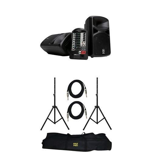 Yamaha STAGEPAS 400I Portable PA System with Speaker Stands and XLR Cables