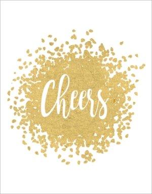 Caspari Gift Enclosure Cards, Cheers, Gold by Caspari