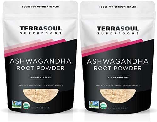 Terrasoul Superfoods Ashwagandha Root Powder (Organic), 2 Pounds
