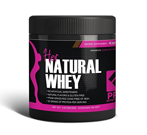 Protein Powder For Women - Her Natural Whey Protein Powder For Weight Loss & To Support Lean Muscle Mass - Low Carb - Gluten Free - rBGH Hormone Free - Naturally Sweetened with Stevia - Designed For Optimal Fat Loss (Chocolate Delight)- Net Wt. 1 LB