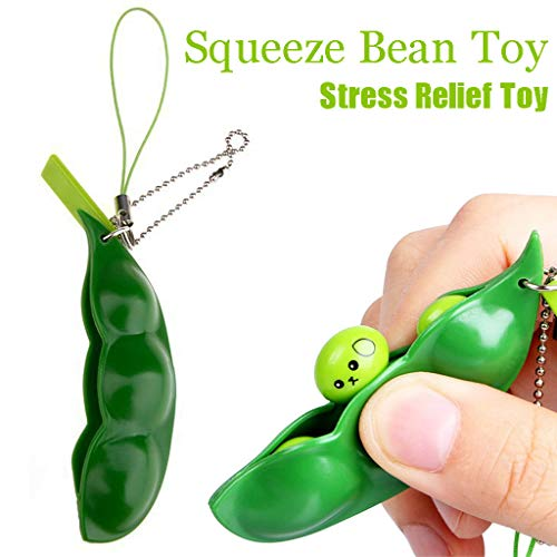 ❤️ Yaida❤️Squeeze Bean Stress Relief Fidget Bean Squishies Toys Keychain Improve Focus Toy by Yaida_❤️Toys (Image #7)
