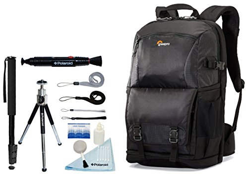 Lowepro Fastpack BP 250 AW II Photo / Laptop Backpack with Accessory Kit For Canon EOS Rebel T6i, T6, T5i, T5, T3, T3i, T4, T4i, T2i, T1i, EOS 1D MARK III, 1D MARK IV, 1DS MARK II, 5D mark II, 5D MARK III, 7D MARK II, SL1, 5D, 5DS, 5DS R, 7D, 60D, 70D, 6D, 1D X D-SLR Cameras