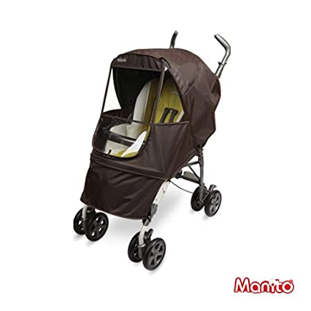 Eye Protective Wide Windows Wind Weather Shield for outdoor strolling Grey Elegance Alpha Cover // Cover for Baby Stroller and Pushchair Rain Cover Manito