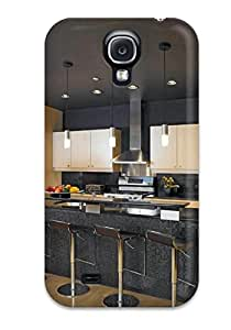 TLblfFs2399ldERK Faddish Black Contemporary Kitchen With Counter Seating Case Cover For Galaxy S4