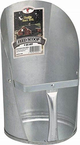 Image of Little Giant 4-Quart Galvanized Feed Scoop