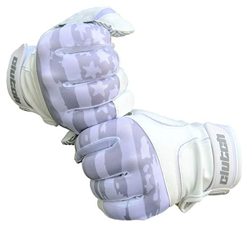 Clutch Sports Apparel Whiteout American Flag Batting Gloves