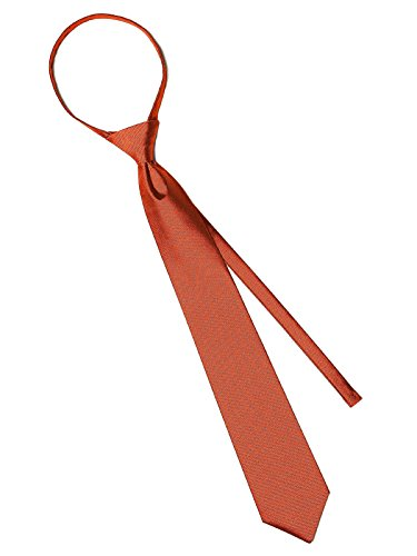 Men's Paragon Pre-Knotted Slider Tie Style YD502 by After Six - Tangerine Tango (Neckties Tango)
