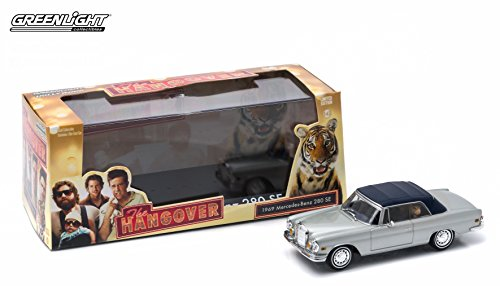 Caesar Three Light - 1969 MERCEDES-BENZ 280 SE CONVERTIBLE & TIGER from the classic film THE HANGOVER Greenlight Hollywood 2015 Greenlight Collectibles Limited Edition 1:43 Scale Die-Cast Vehicle & Custom Display Case