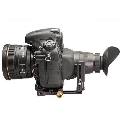 Hoodman Live View Kit for All DSLR Cameras, Includes H30MB HoodLoupe Outdoor Loupe, H32B HoodLoupe Base, HTE Teardrop HoodEye, HCP Base Plate