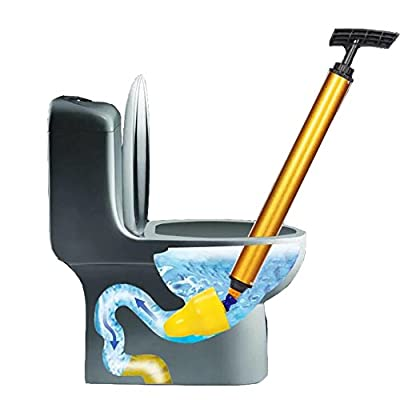 Toilet Plunger, High Pressure Toilet Dredge Powerful Manual Strong Home Toilet Dredge Sewer