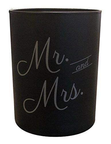 Flamme Candle Co. Mr. and Mrs. Candle - Wedding Candle - Natural Essential Oils - Black (Matte) Jar