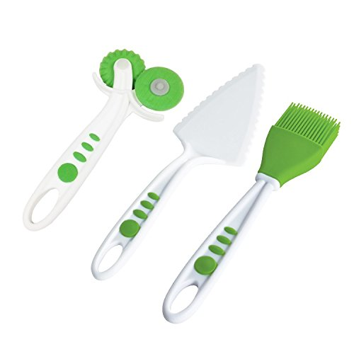 Curious Chef TCC50213 5 Piece Pie Making Kit, Child, Green/White by Curious Chef (Image #3)