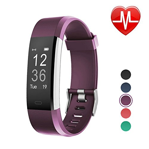 LETSCOM Fitness Tracker HR, Activity Tracker Watch with Heart Rate Monitor, Waterproof Smart Bracelet with Step Counter, Calorie Counter, Pedometer Watch for Kids Women and Men -
