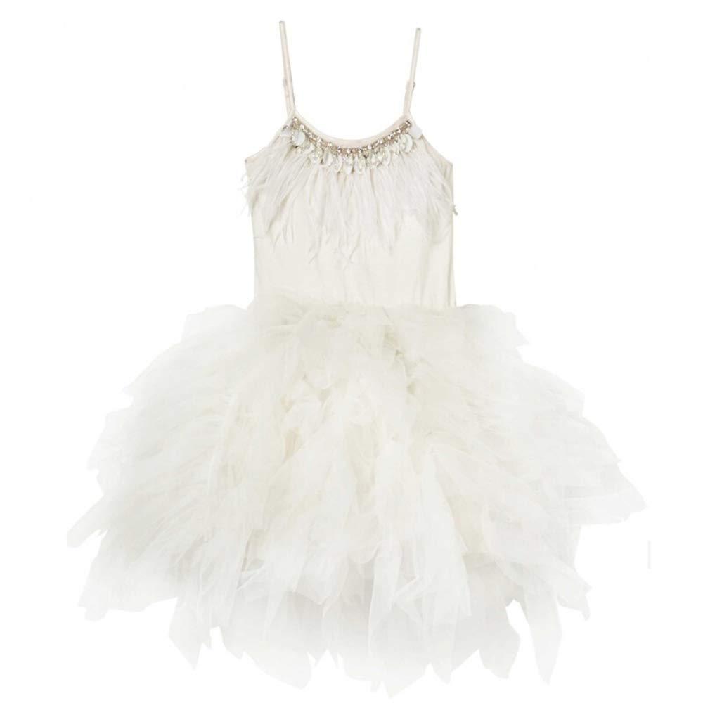 Blanc 100cm YONGMEI Sweat Ballet Show Girl de la Petite Fille, 4 Couleurs (Couleur   Blanc, Taille   100cm)