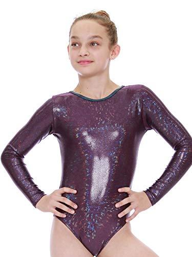 VEVA by Very Vary Women Plum Stella Mystique Gymnastics Leotard - Mystique Plum