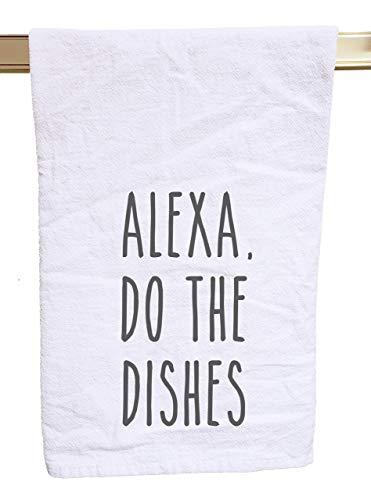 Alexa do the dishes flour sack tea towel