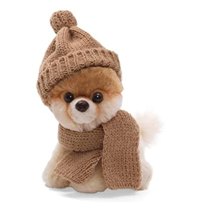 "Gund 5"" Itty Bitty Boo in Knit Scarf and Cap Plush"