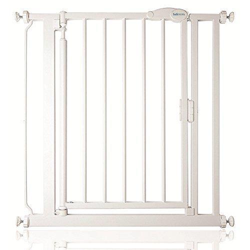 Safetots Barrière de sécurité À pression Fermeture automatique, 68,5 à 75cm, Blanc Étroit Safetots Limited ST-STNASC01