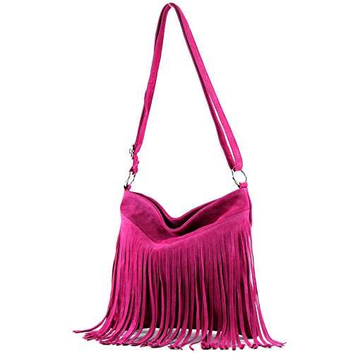 Pink shoulder bag shopper bag handbag suede leather T02 bag real T145 Women's Italian 7fqOxwRHn