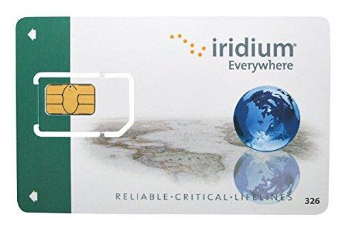 Iridium Satellite Phone Global Prepaid SIM Card with 500 Minutes (12 Month Validity)