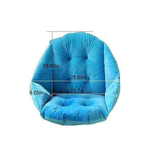 RXIN Soft Plush Shell Design Seat Cushion Lumbar Back Support Cushion Pillow for Beach Home Office Car Seat Chair Buttocks Pad (Hammock Round Hanging)