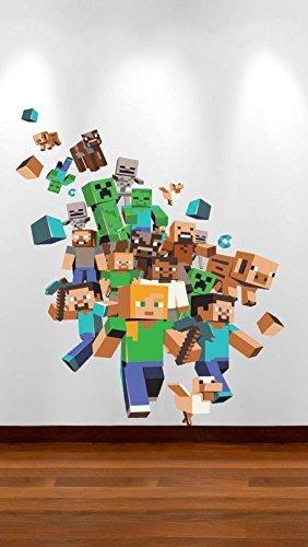 Amazon.de: Minecraft Xbox Spiel Voller Farbe Wand Aufkleber jungen ...