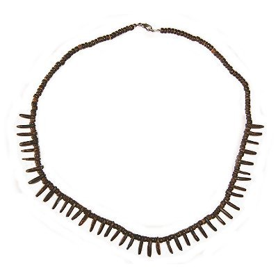 Hawaiian Jewelry Coconut Shell Hawaii Warrior Necklace (Jewellery Coconut Shell)