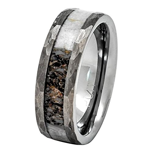Antler Wedding Band Amazoncom