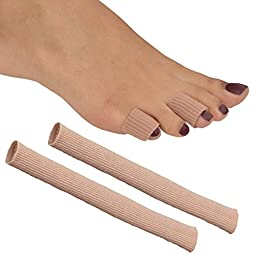 Medipaq Gel Tube Toe/Finger Bandage - Pain Relief From Blisters, Corns, Calluses And Other Ailments Causing Sore Fingers And Toes 2X Gel Tubes 15Mm