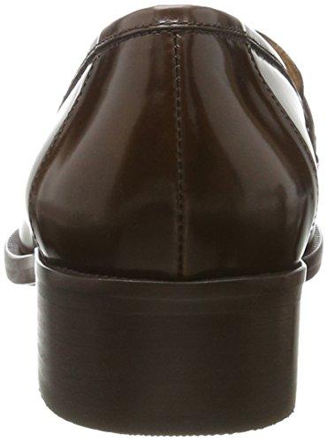 Marc Opolo Damen Metà Tallone Mocassino 70714142202111 Pistone Braun (cognac)