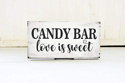Enid18Bru Candy Bar Love is Sweet Placa de Boda, Cartel de ...