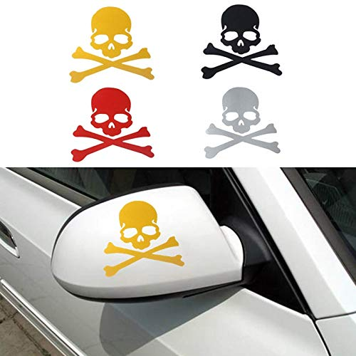 Fragil Tox 3D Animal Sticker Fashion Skeleton Skull Design 3D Decoration Sticker for Car Side Mirror Rearview Professional Car Styling Wholesale