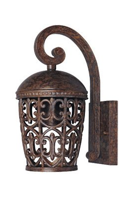 Burnt Umber Single Light Down Lighting Outdoor Wall Lantern from the Dark Sky Amherst - Outdoor Amherst Wall