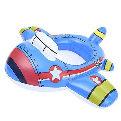 Verintex Let Me Sit Inflatable Plane Pool Ride for Your Kids of Age 1-5 | Kiddie Pool Ride | Durable | Premium Quality | Pool Floats for Kids ()