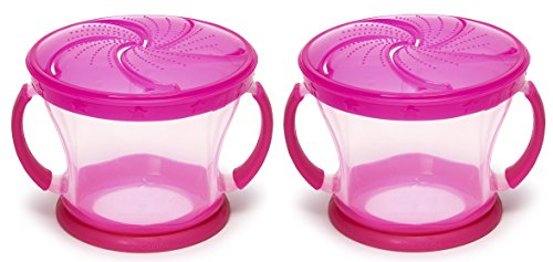Munchkin Snack Catcher, 9 Ounce, 2 Count, Pink