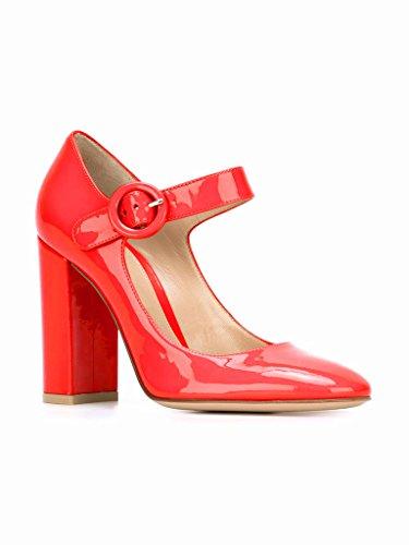 Escarpins A Bride Cheville Janes De Femme Rond Bout Mariee Chaussures Mary Rouge Boucle Edefs Pompes Talon Mariage tQxhsrdC