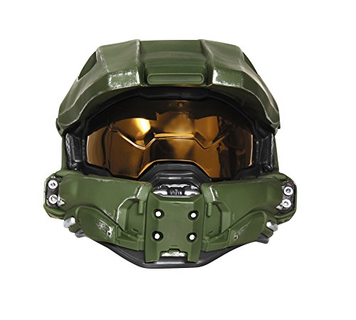 Master Cheif Helmet (Disguise Men's Master Chief Adult Light-up Deluxe Helmet, Green, One)