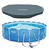 "Bestway Steel Pro 12' x 30"" Frame Above Ground Pool Set with Filter Pump + Cover"