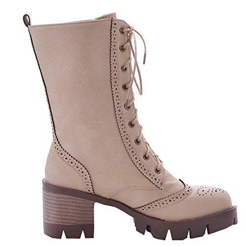 Classic Women's Beige AIYOUMEI Beige Classic AIYOUMEI Boot Boot Women's AIYOUMEI wBfFqFU