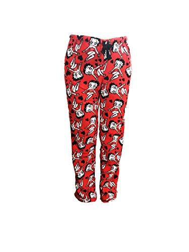 Betty Boop Women's Sleepwear Plush Fleece Lounge Pajama Sleep Pants S To XL (Red, M) Betty Boop Pajamas