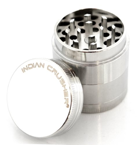 Indian Crusher 1.6 Inch Zinc 4 Piece Tobacco Spice Herb Grinder by Indian Crusher