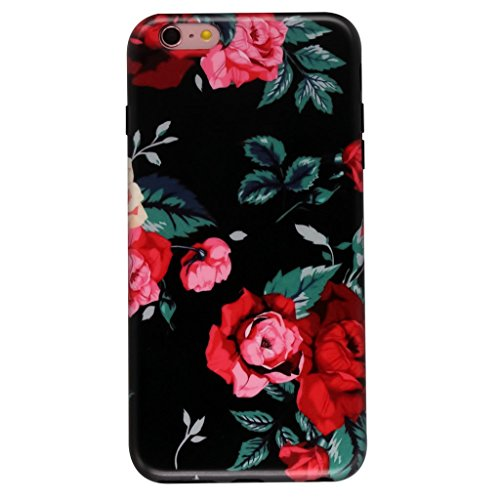 GOLINK iPhone 6S Case for Girls/iPhone 6 Floral Case, MATTE Floral Slim-Fit Ultra-Thin Anti-Scratch Shock Proof Dust Proof Anti-Finger Print TPU Case for iPhone 6/6S 4.7