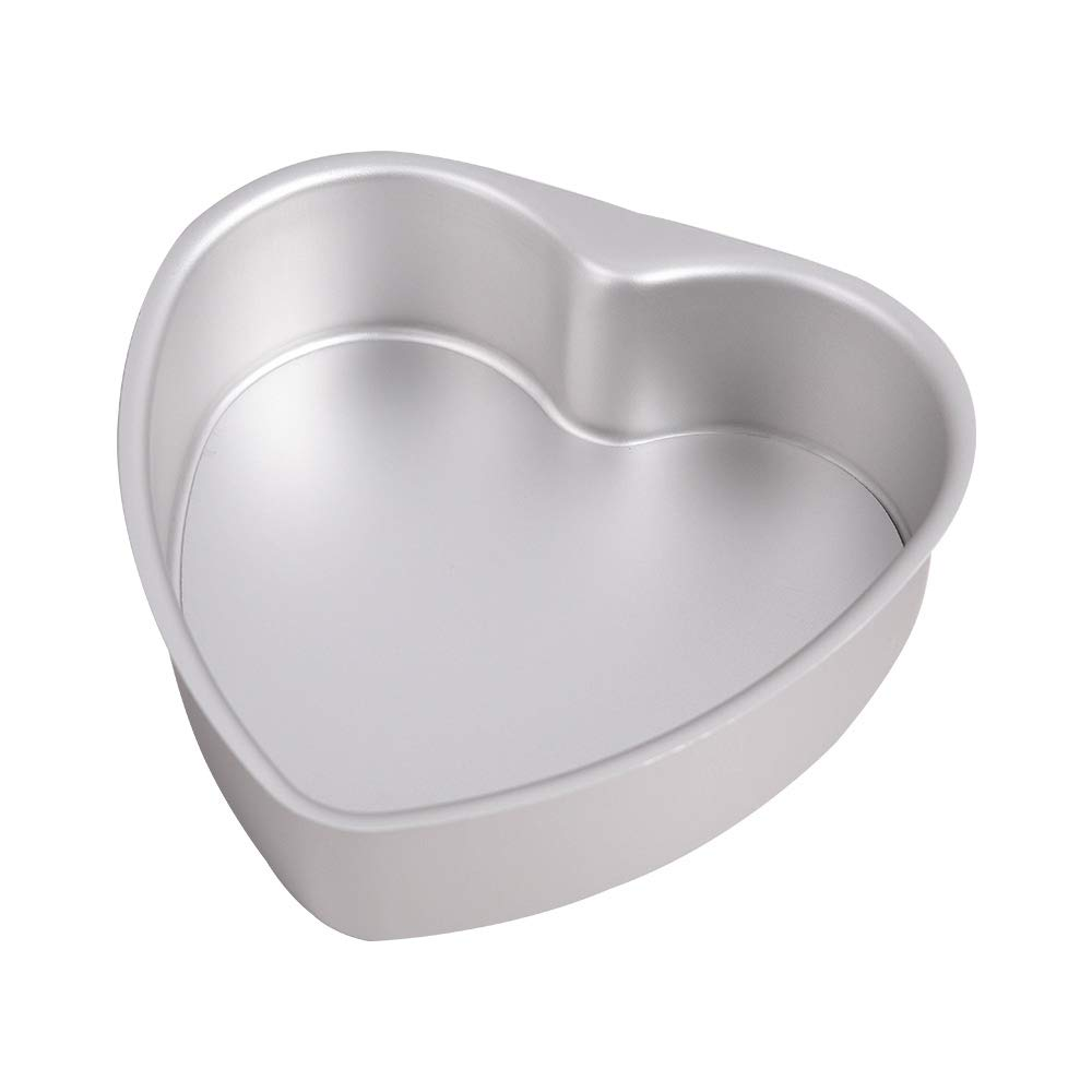 Bakerdream Heart Shape Cake Pan Non-stick Baking Pan Cheesecake Pan Heart Shaped Baking Tools with Removable Bottom BAKING BAKE TRAY TINS (6 inch)